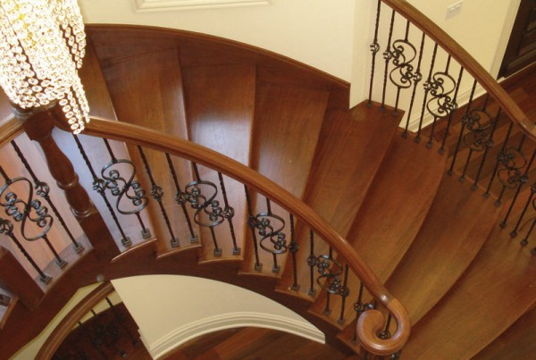 Amron stair works custom staircases 847 426 4800 for Ready made stairs