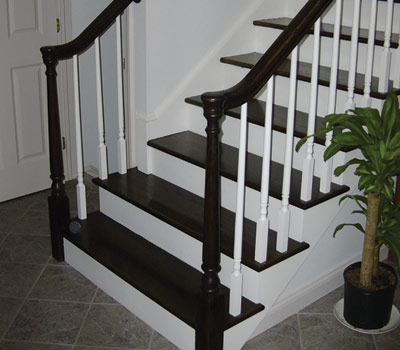 Stair Case with Turnouts