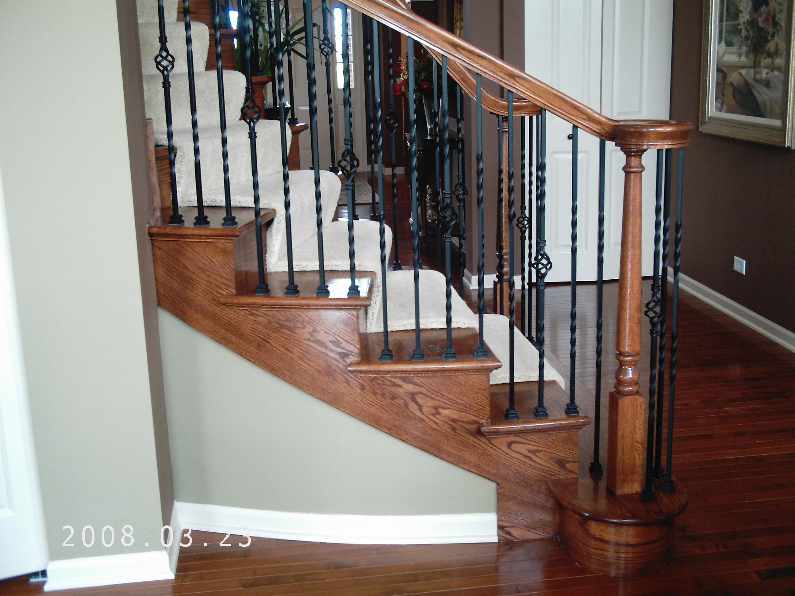 Wood Spiral And Curve Staircase Design Amron Stair Works